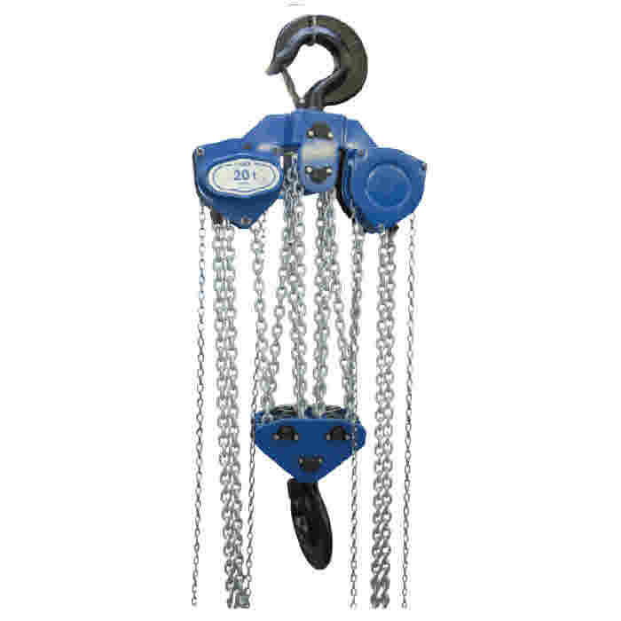 "Tractel ""tralift"" manual chain hoists, top hook suspended range."