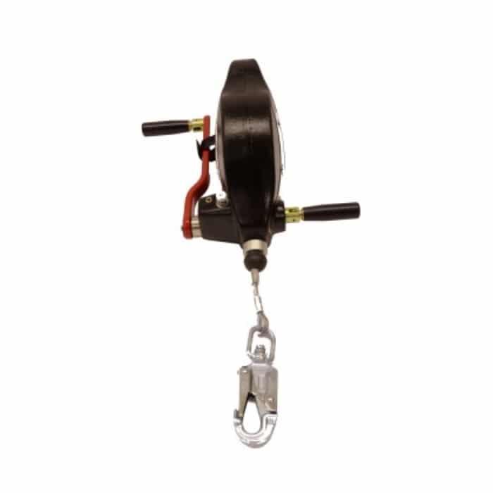 Ridgegear RGA4H 15m Wire Fall Arrest & Rescue Block c/w Stabilising Handle