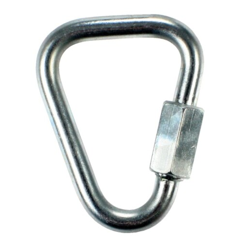 Ridgegear RGK12 Steel Triangular Screw Gate Karabiner