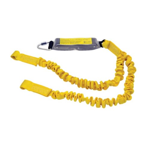 Ridgegear RGL9 Twin Leg Elasticated Webbing Lanyard & Shock Absorber